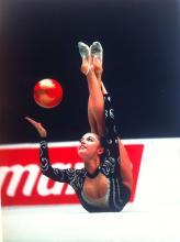 Алина Кабаева с мячом